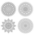 set of floral mandalas vector image vector image