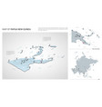 set papua new guinea country isometric 3d map vector image