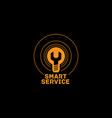 smart service logo vector image vector image