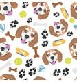 smiling dog beagle vector image vector image