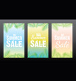 summer sale poster design vector image vector image