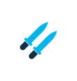 sword icon colored symbol premium quality vector image