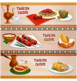 Turkish cuisine meat dishes banner for menu design vector image vector image
