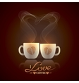 Two cream color cups vector image