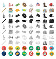 usa country cartoon icons in set collection for vector image vector image