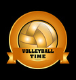 volleyball emblem design vector image vector image