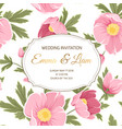 wedding invitation anemone sakura peony flowers vector image vector image