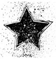 with grunge black star on vector image