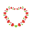 Red Flowers Wreath vector image