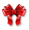 Big red bow vector image