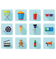 a set of color icons for cinema and movies vector image