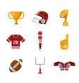 american football icons vector image vector image