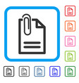 attach document framed icon vector image vector image