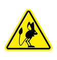 attention jerboa caution steppe animal yellow vector image vector image