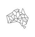 australia stone logo design vector image vector image