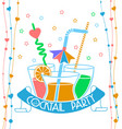 banner cocktail party vector image vector image
