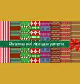 big festive set of cute multicolor christmas or vector image