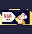 big sale black friday flyer special offer promo vector image vector image