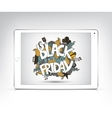 black friday banner showing in the screen vector image vector image