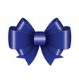 blue ribbon bow vector image vector image