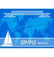 Blue travel background with yacht vector image vector image