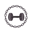 border with chain inside a disc weights vector image vector image