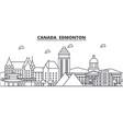 canada edmonton architecture line skyline vector image vector image