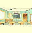 cartoon of school classroom vector image