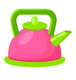 cartoon style colorful kettle vector image vector image