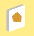 cheese computer symbol vector image