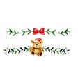 christmas decoration watercolor vector image vector image