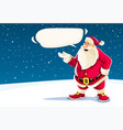 christmas santa claus speaking vector image vector image