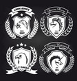 coat arms collection on blackboard vector image vector image
