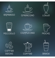 Coffee pictogram on rainy flare background vector image