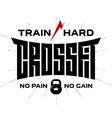 Crossfit - original lettering print for t-shirt or vector image vector image