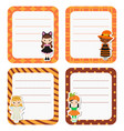 cute cards or stickers with cartoon children in vector image vector image