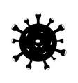 dangerous coronavirus bacteria mushroom icon vector image