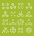 different outline spinners vector image vector image
