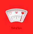 full of love meter valentines day card design vector image vector image