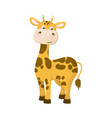 giraffe animal nature wildlife character with long vector image vector image