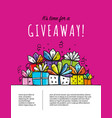 giveaway banner for your design vector image vector image