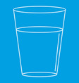 glass water icon outline style vector image vector image