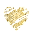 Gold ornate heart vector image vector image