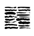 grungy black paint brush strokes collection vector image vector image