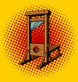 guillotine pop art vector image vector image