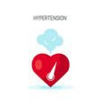 high blood pressure concept in flat style vector image vector image