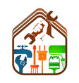 home repairs with tools vector image vector image