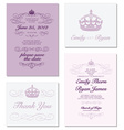 Invitations Template vector image vector image