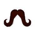 isolated moustache icon vector image vector image