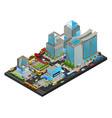 isometric modern cityscape concept vector image vector image